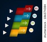 modern business origami style... | Shutterstock .eps vector #186374384