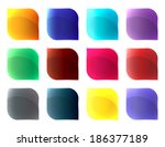 different colours glass buttons ...   Shutterstock .eps vector #186377189