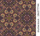 decorative seamless pattern.... | Shutterstock .eps vector #186377744