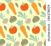 colorful vegetable vector... | Shutterstock .eps vector #186378029