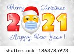 2021 merry christmas and a... | Shutterstock .eps vector #1863785923