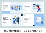 web page design templates of it ... | Shutterstock .eps vector #1863786439