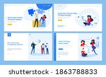 web page design templates of it ... | Shutterstock .eps vector #1863788833