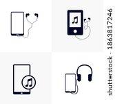 Set Of Music Player Design...