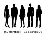vector silhouettes of  men and... | Shutterstock .eps vector #1863848806