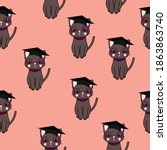 Cute Cats In The Graduation...