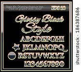 glossy black graphic style for... | Shutterstock .eps vector #186387686