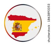 spain icon. shape of the... | Shutterstock .eps vector #1863893353