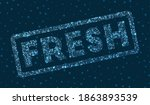 fresh word in digital style.... | Shutterstock .eps vector #1863893539