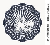 taaf stamp. travel rubber stamp ... | Shutterstock .eps vector #1863893623