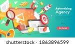 3d vector conceptual... | Shutterstock .eps vector #1863896599