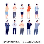 people clapping. thankful... | Shutterstock .eps vector #1863899236