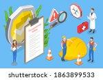3d isometric flat conceptual... | Shutterstock . vector #1863899533