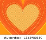orange valentine heart. symbol... | Shutterstock .eps vector #1863900850