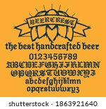 retro set styled label of beer  ... | Shutterstock .eps vector #1863921640