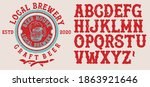 retro set styled label of beer  ... | Shutterstock .eps vector #1863921646