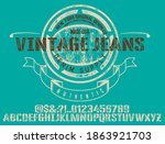 craft vintage typeface design.... | Shutterstock .eps vector #1863921703