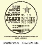 craft vintage typeface design.... | Shutterstock .eps vector #1863921733