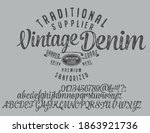 craft vintage typeface design.... | Shutterstock .eps vector #1863921736