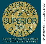 craft vintage typeface design.... | Shutterstock .eps vector #1863921739