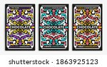 luxury packaging design of...   Shutterstock .eps vector #1863925123