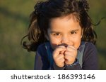 portrait of a beautiful smiling ... | Shutterstock . vector #186393146
