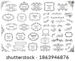 calligraphic design elements .... | Shutterstock .eps vector #1863946876