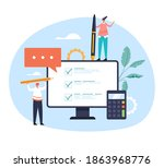 online web internet survey test ... | Shutterstock .eps vector #1863968776
