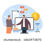 two business person businessman ... | Shutterstock .eps vector #1863973870