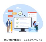 online survey examination... | Shutterstock .eps vector #1863974743