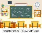 empty classroom. school...   Shutterstock .eps vector #1863984850