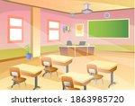 empty classroom. school... | Shutterstock .eps vector #1863985720
