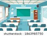 empty classroom. school...   Shutterstock .eps vector #1863985750