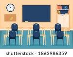 empty classroom. school...   Shutterstock .eps vector #1863986359