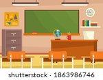 empty classroom. school... | Shutterstock .eps vector #1863986746