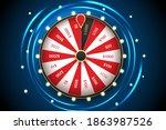 casino spinning fortune wheel...   Shutterstock .eps vector #1863987526
