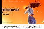 template design for landing... | Shutterstock .eps vector #1863995170