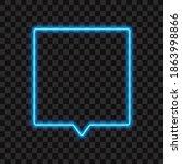 neon square sign  speech bubble ... | Shutterstock .eps vector #1863998866