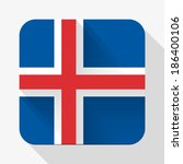 simple flat icon iceland flag....