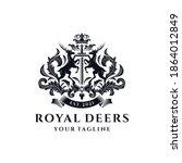 Royal Deer Crest Logo Template