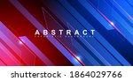 abstract technology blue stripe ...   Shutterstock .eps vector #1864029766