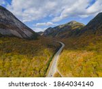 Franconia Notch With Fall...