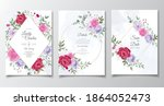 wedding invitation card with... | Shutterstock .eps vector #1864052473