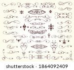 set of decorative elements for... | Shutterstock .eps vector #1864092409