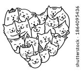 Hand Draw Doodle Cats For...