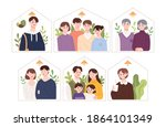 illustration of various types... | Shutterstock .eps vector #1864101349