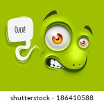 "background with cartoon ""ouch""... 