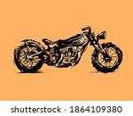 motorcycle. emblem of biker...   Shutterstock .eps vector #1864109380