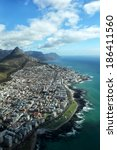 aerial view of lion's head and... | Shutterstock . vector #186411560