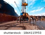 Crane Loading The Ship In Port